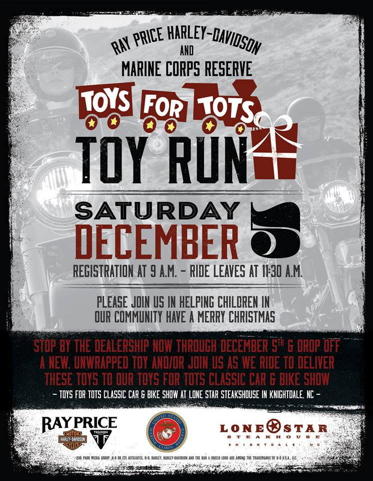 Toys For Tots Raffle : Toys for tots ride ray price inc